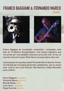 Flyer trasero CMYK- Franco Baggiani