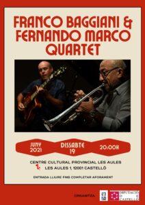 Franco Baggiani & Fernando Marco Quartet @ pati de les aules